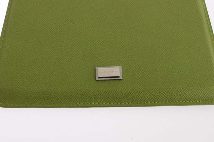 Green Leather iPAD Tablet eBook Cover Bag