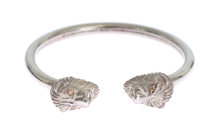 Silver Lion 925 Sterling Bangle Bracelet