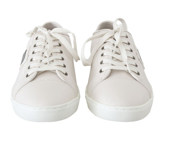 White Leather Mens Casual Sneakers