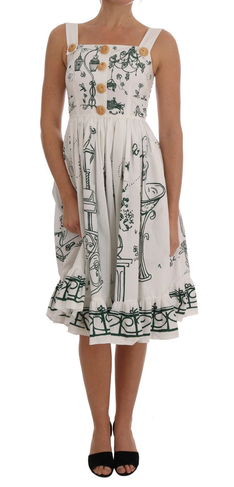 White Unique Garden Front Dress