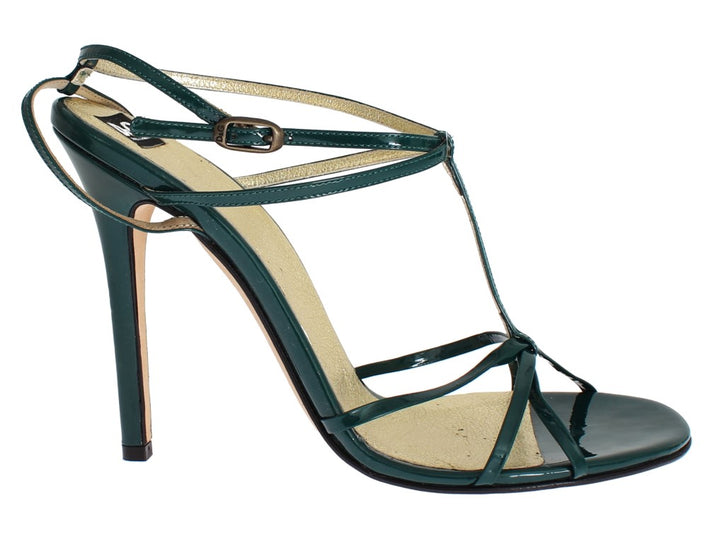 Green Leather Sandals Pumps
