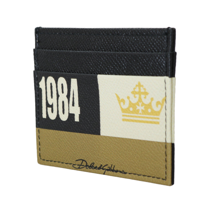 1984 Multicolor Dauphine Leather Card Holder
