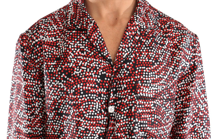 Multicolor Fantasy Pattern Silk Shirt