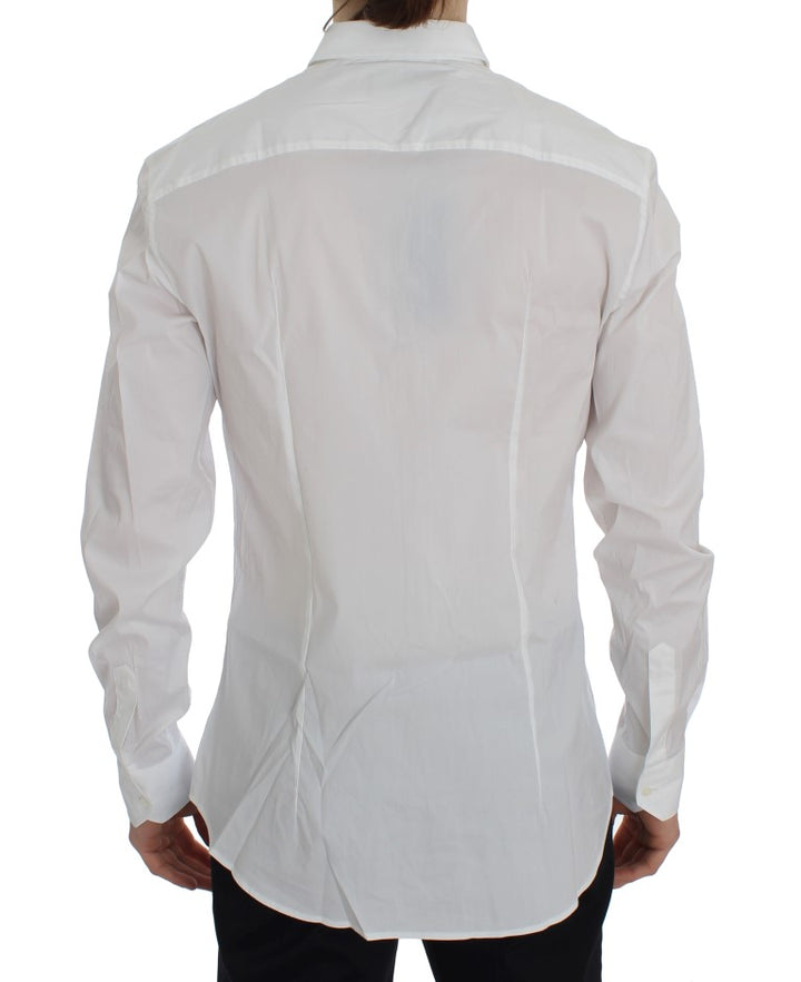 White Slim Fit Formal Cotton Shirt