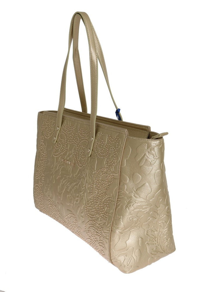 Gold Satchel Shopping Borse Tote Bag