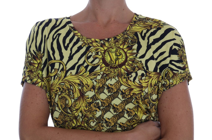 Yellow Stretch Baroque Blouse