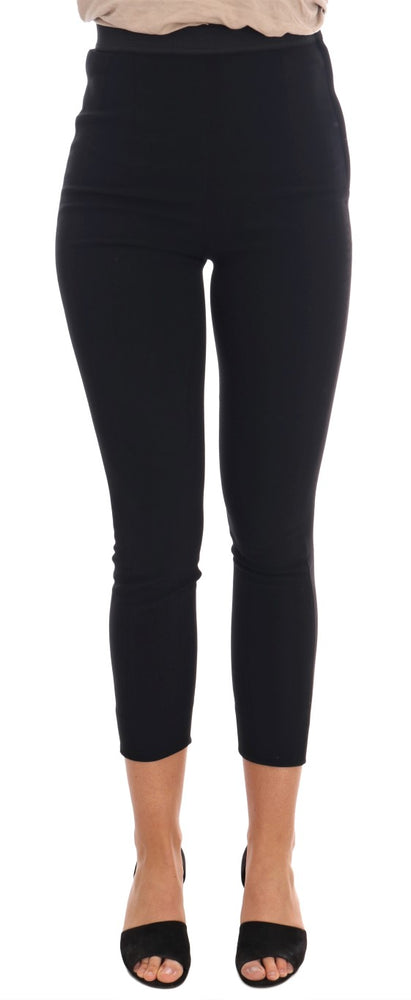 Black Stretch Capri Tights