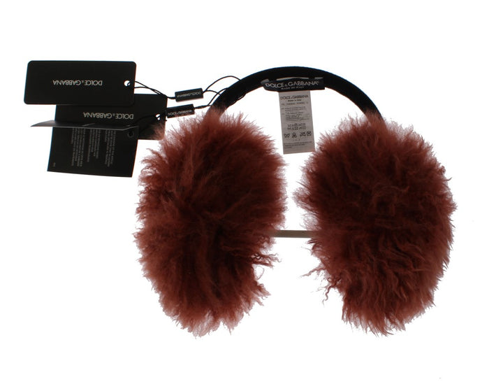 Red Shearling Alpaga Wool Ear Muffs