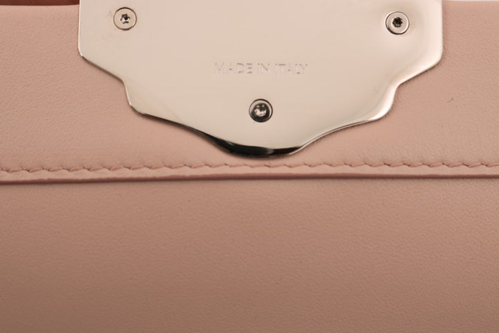 Pink Leather LUCIA Hand Shoulder Bag