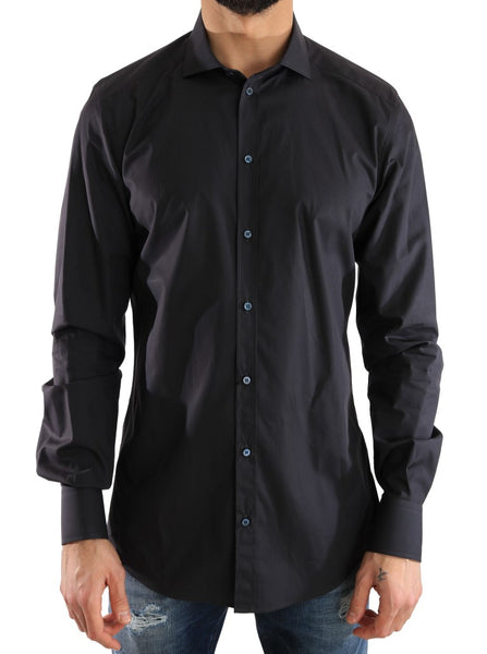 Blue Formal Slim Fit Cotton Shirt