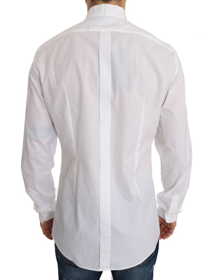 White Cotton GOLD Slim Fit Shirt