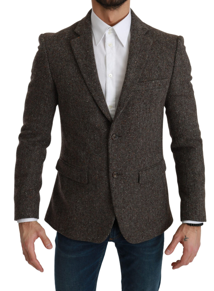 Brown Jacket Formal Coat Wool Blazer