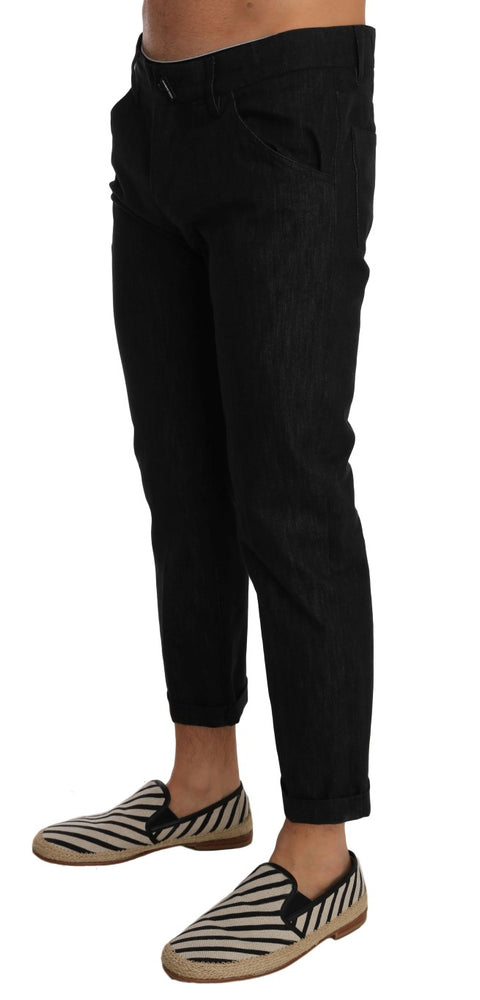 Black CLASSIC Stretch Cropped Jeans