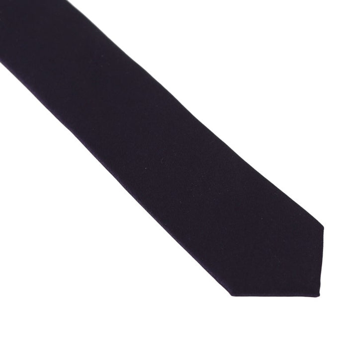 Purple Silk Slim Tie