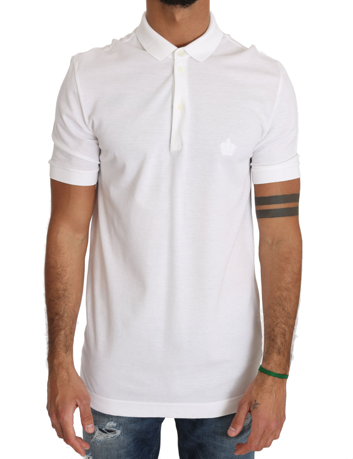 White Cotton Crown Logo Shirt