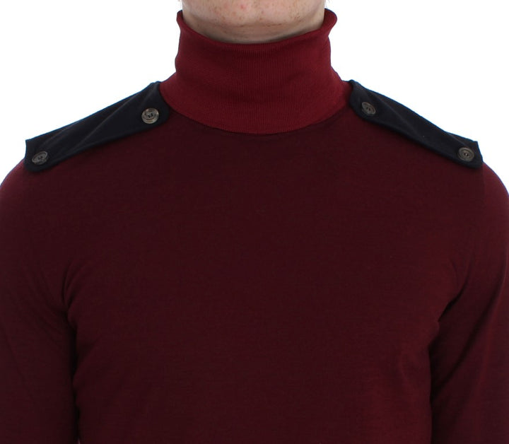 Bordeaux Wool Turtleneck Sweater