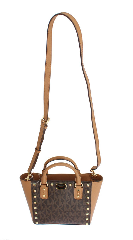 Brown SANDRINE Leather Crossbody Handbag
