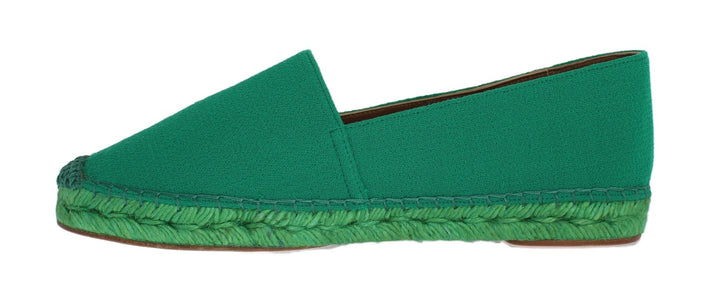 Green Wool Espadrilles Loafers