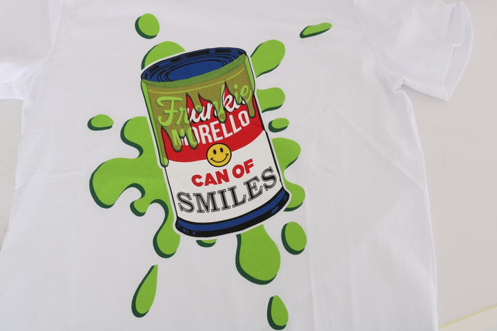 White Cotton Can Of Smiles T-Shirt