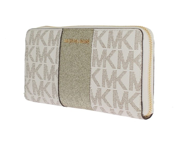 White CENTER STRIPE Continental Wallet