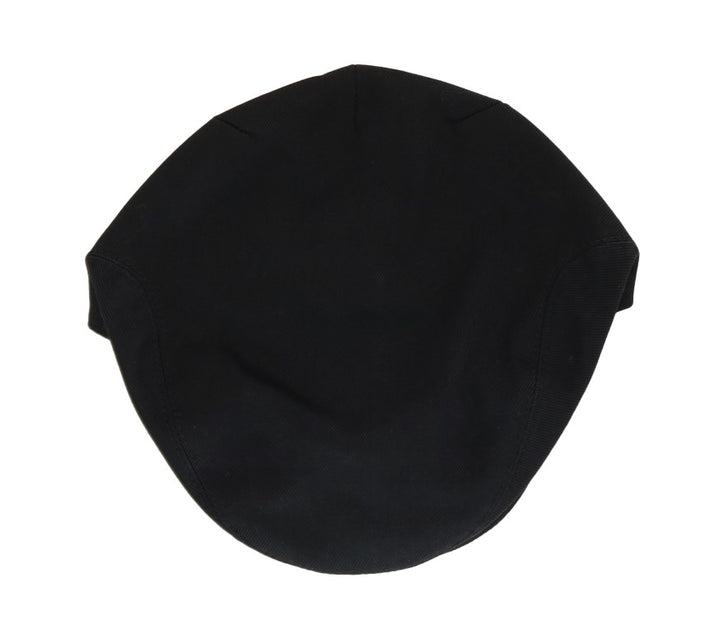 Black Cotton Newsboy Hat