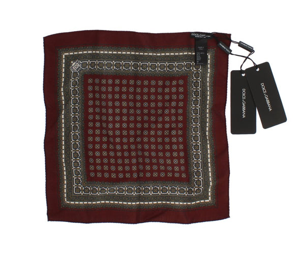 Bordeaux Silk Square Handkerchief