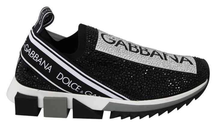 Black Clear Crystal Running Limited Shoes Sneakers