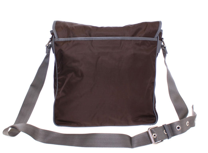 Brown messenger shoulder bag
