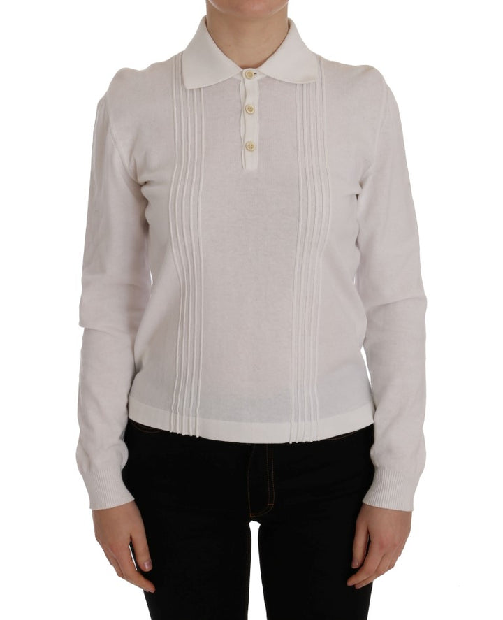 White Cotton Blouse Top