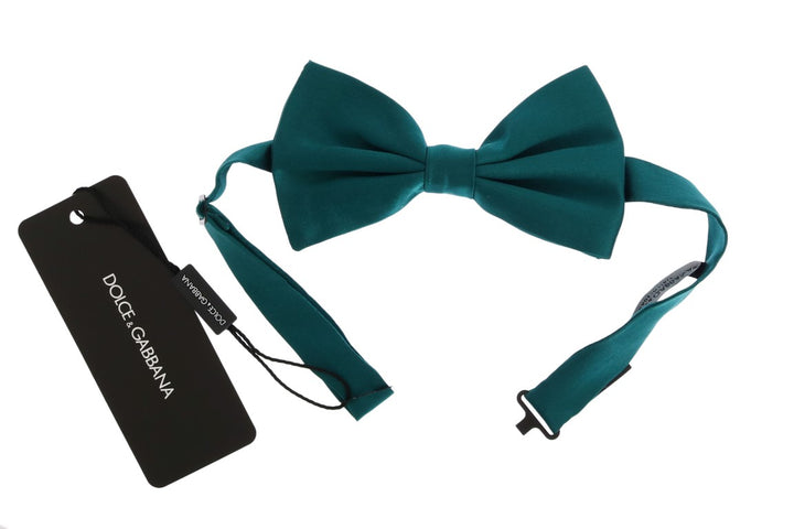 Green Aquamarine Silk Bow Tie