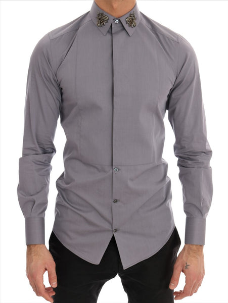 Gray Crystal Bee GOLD SLIM Fit Shirt