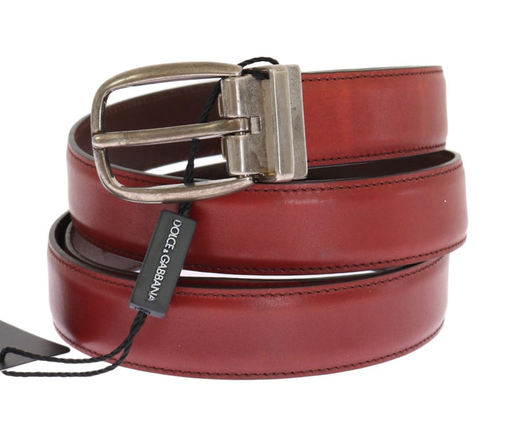Red Leather Gold Buckle Belt