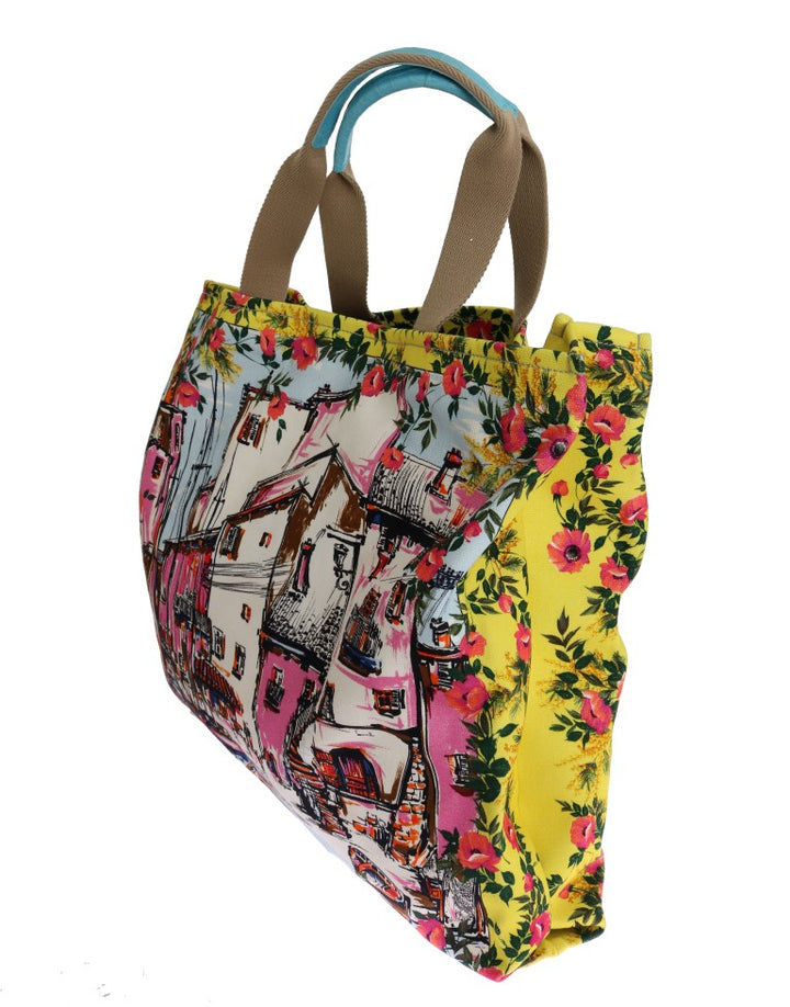 Multicolor PORTOFINO Print Canvas Tote Bag