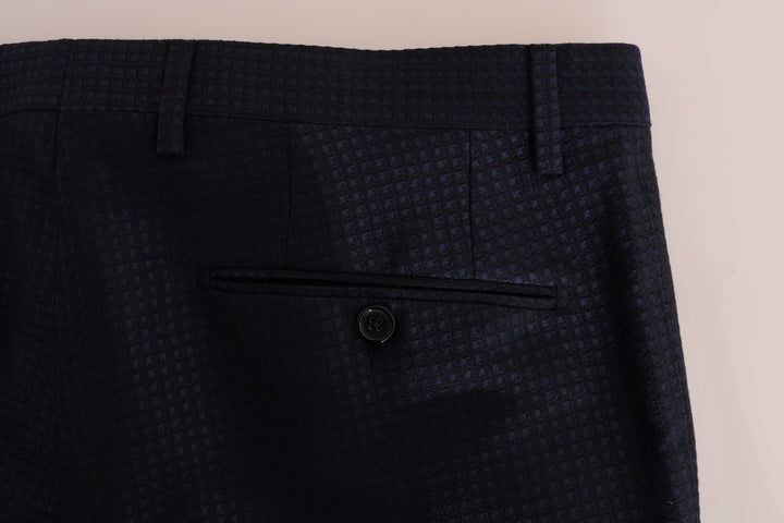 Blue Wool Dress Formal Pants