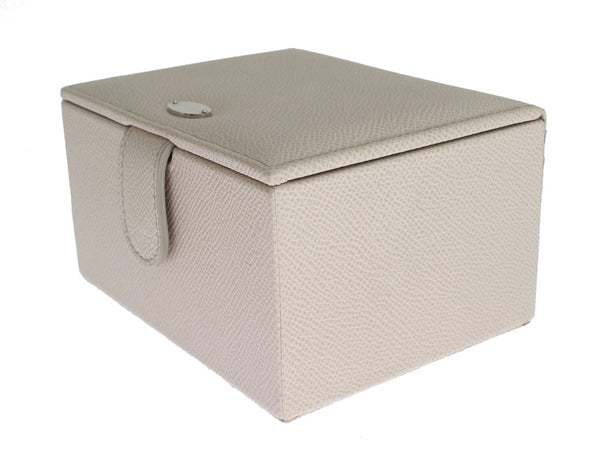 White Leather Unisex Two Watch Case Cover Box Storage