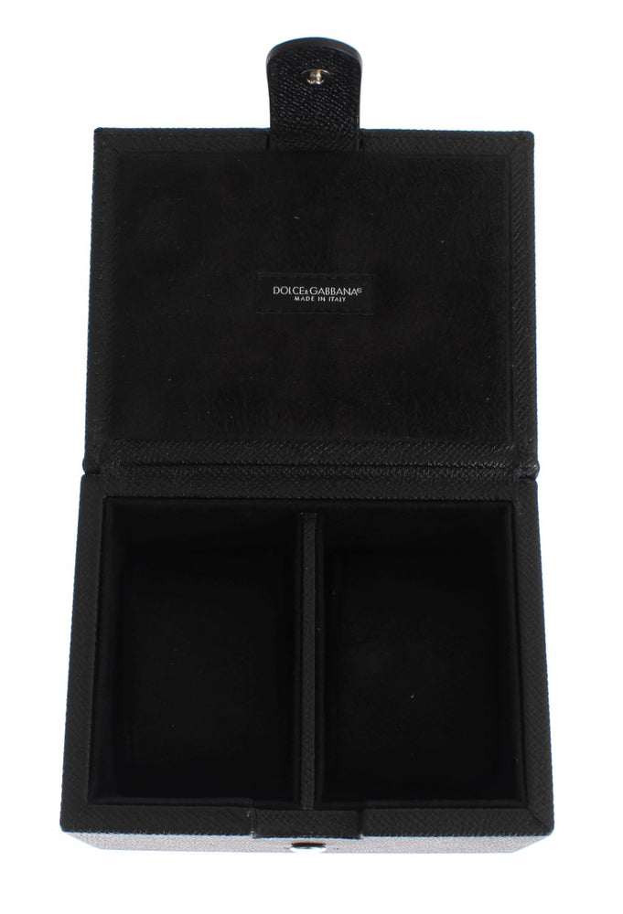 Black Leather Unisex Two Watch Case Cover Box Storage