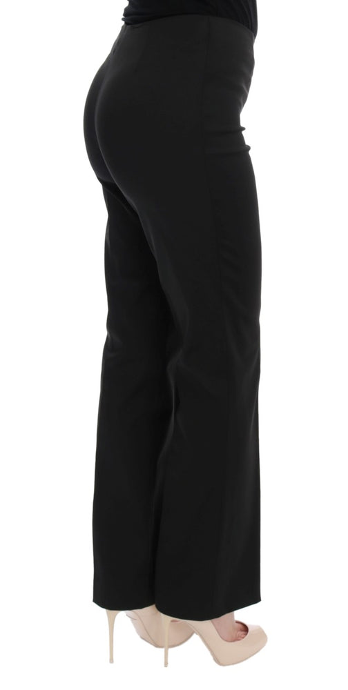 Black Stretch Straight Fit Dress Pants