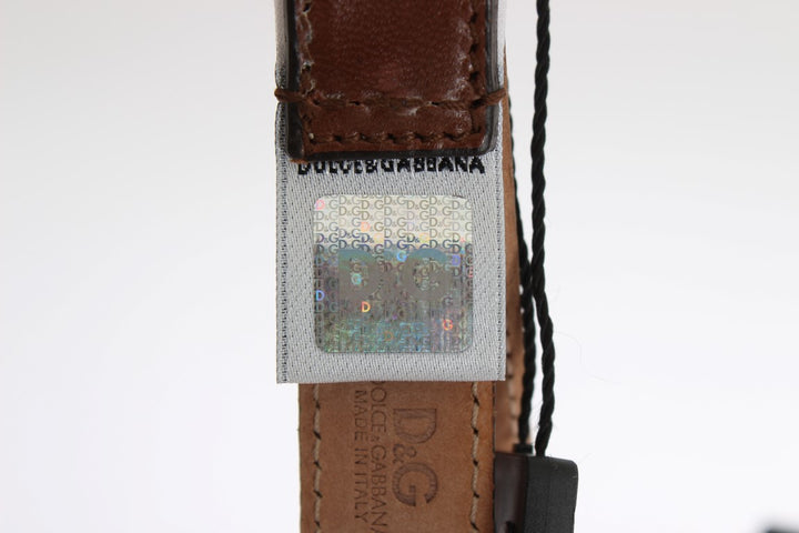 Brown Leather Pattern Belt
