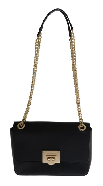 Black TINA Leather Shoulder Bag