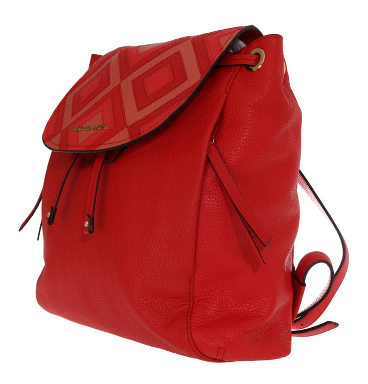 Red RILEY Leather Backpack