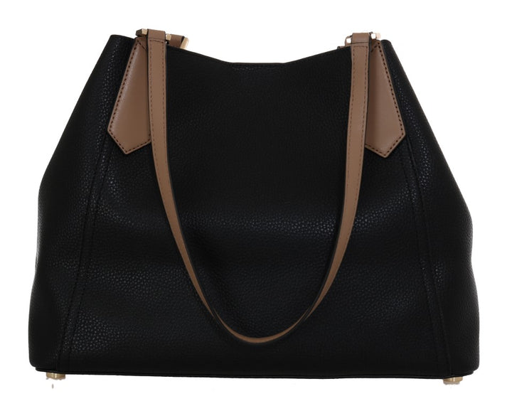 Black KIMBERLY Leather Shoulder Bag