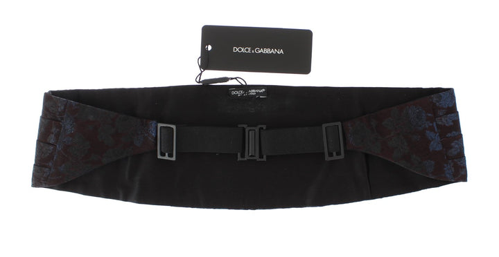 Bordeaux Gold Waist Belt Silk Cummerbund