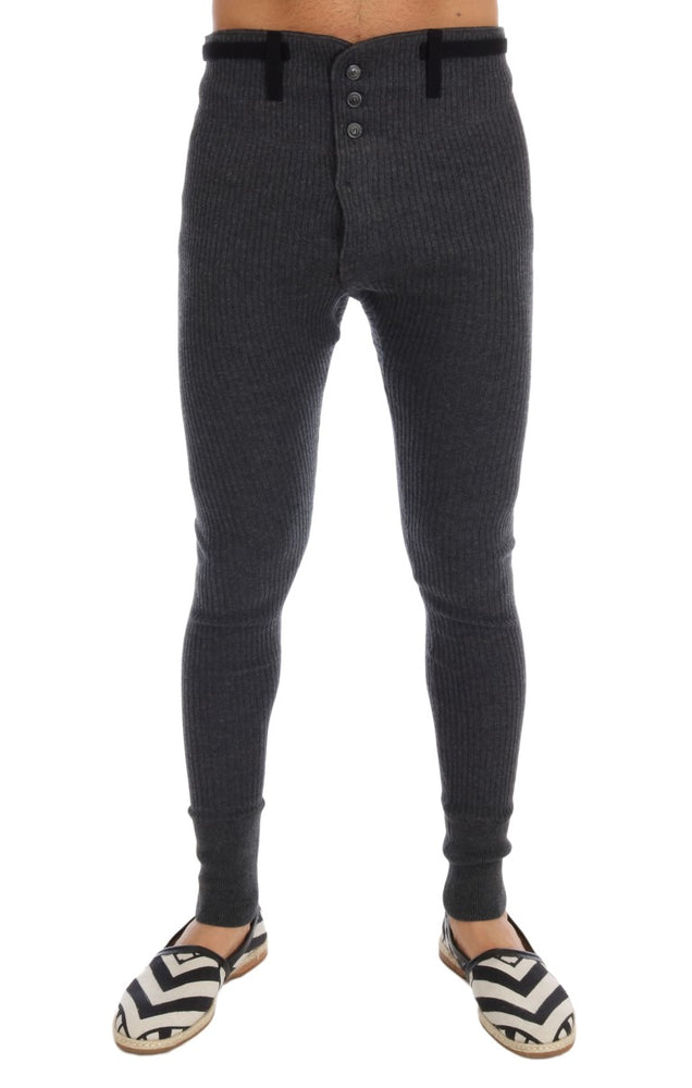 Gray 100% Cashmere Winter Underwear Pants