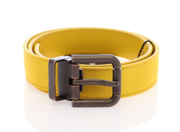 Yellow Fabric Logo Belt