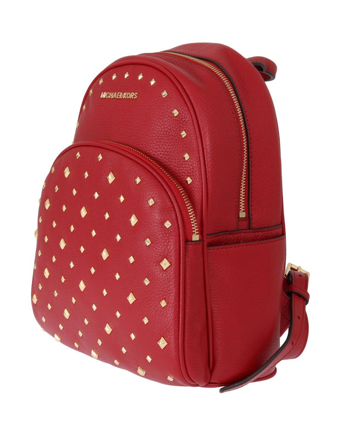 Red ABBEY Studded Backpack