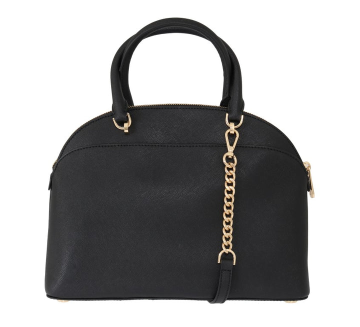 Black EMMY Leather Satchel Bag