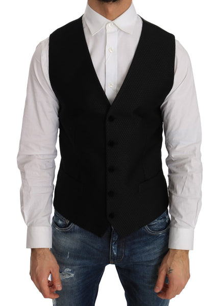 Black Polka Dot Pattern Vest