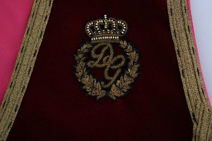 Bordeaux Velvet Gold Crown Vest