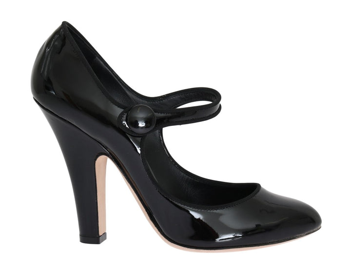 Black Heels Mary Janes Leather Pumps