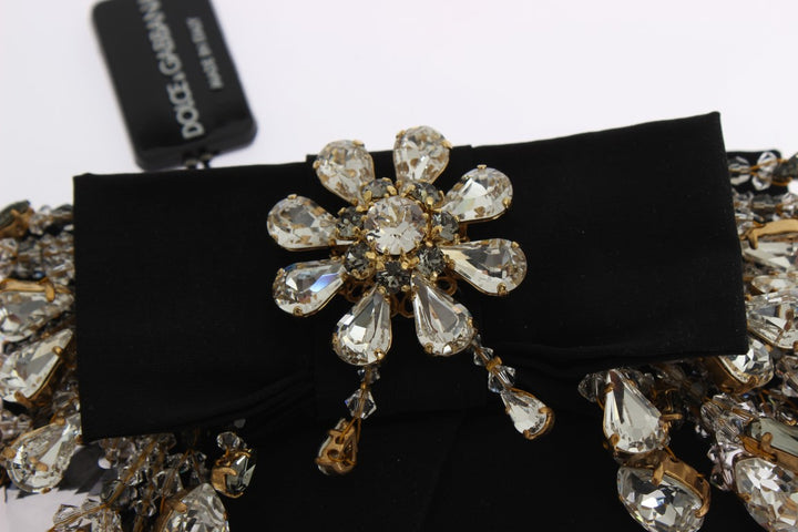 Gold Brass Sicily Baroque Clear Crystals Hair Clip